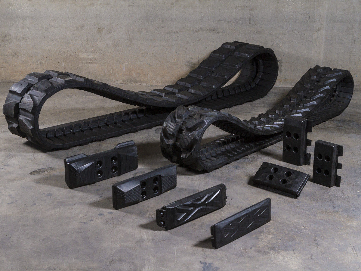 Rubber tracks and Rubber padsTrabber